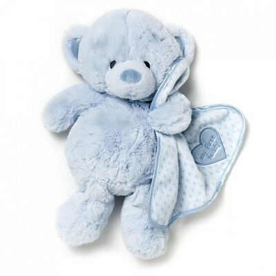 Nat and Jules Plush Toy, Blue My First Teddy Bear. Free Delivery