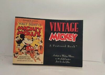 Vintage Mickey: A Postcard BOOK ~ New ~ Vintage Poster Postcards (1991) Unmarked