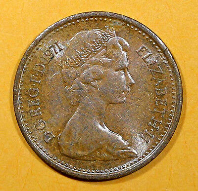 UK (Great Britain) 1971   1/2  NEW PENNY Queen Elizabeth II Coin