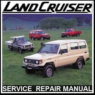 Toyota Landcruiser 70 73 75 Series  Repair Workshop Manual Cd