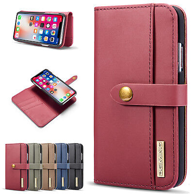 Luxury Leather Magnetic Flip Stand Book Wallet Card Case Cover For iPhone XS Max