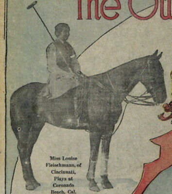 DEBUTANTES on HORSES  ANTIQUE SEPTEMBER 1920 SAN FRANCISCO CHRONICLE FRONT PAGE
