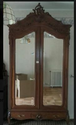 Beautiful Large French Antique Rococo Armoire - Stunning Statement Piece