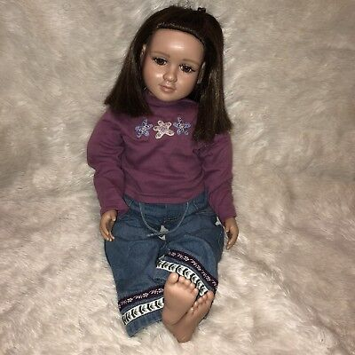 "Beautiful 2003 My Twinn Posable DOLL 23"" Tall Brown Hair, Brown Eyes"