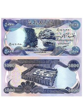 5000 Iraqi Dinar Banknote (Iqd) - Uncirculated - Authentic - Mint Condition!!!