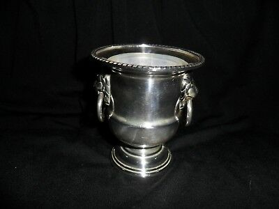 Viners of Sheffield, England silverplated Lions head toothpick holder with liner