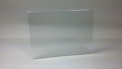 Acrylic Sign Display Holder Frame L-Shaped Clear 7.5 x 5 in LOT 10pcs USED  EUC