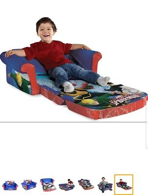 Flip Open Sofa Spiderman Marshmallow Sofas For Kids Pull Out Bed Toddler Couch