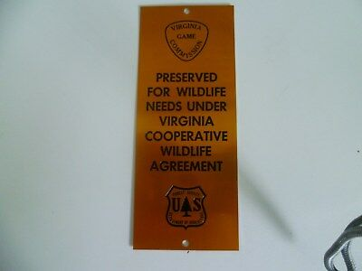 """Vintage 1950's U. S. Forest Service Department of Agriculture Sign 2"""" x 5"""""""
