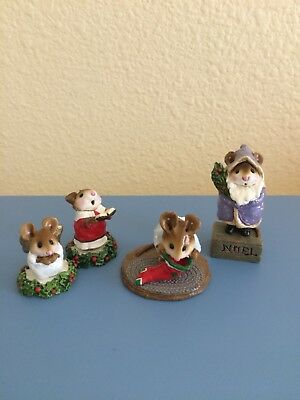 Wee Forest Folk Pageant Angel, Choir, Chris-Mouse Stocking, Father Chris-Mouse