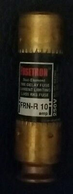 3 Bussmann Fusetron Frn-R 10 Dual Element Time Delay Fuses