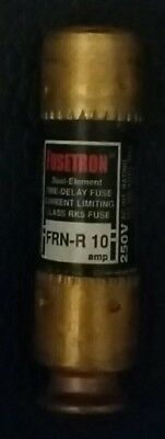 2 Bussmann Fusetron Frn-R 10 Dual Element Time Delay Fuses