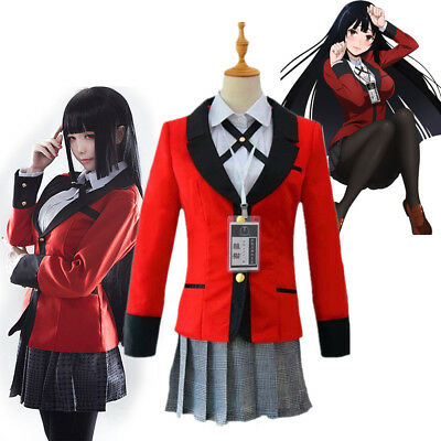 Kakegurui Yumeko Jabami Saotome School Girls Uniform Cosplay Costume Halloween