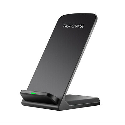 USA FDGAO Qi Wireless Charger Slim 10W Fast Charging Stand Dock For iPhone XS XR