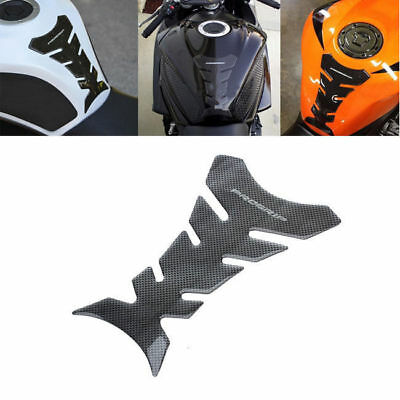 3D Carbon Fiber Motorcycle Gel Oil Gas Fuel Tank Pad Guard Protect Sticker Decal