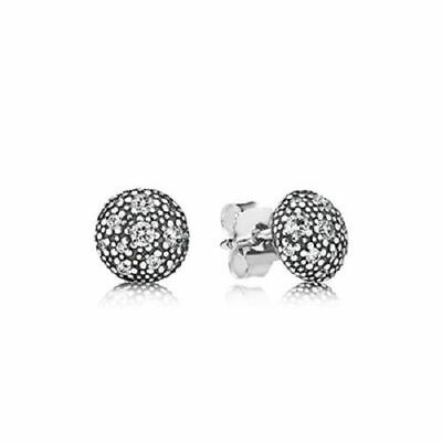 Authentic Pandora Pandora Genuine Silver Cosmic Star Stud CZ Earrings 290560
