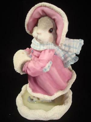My Blushing Bunnies~Love Will Never Let You Fall~Bunny Ice Skating~w/Box~COA