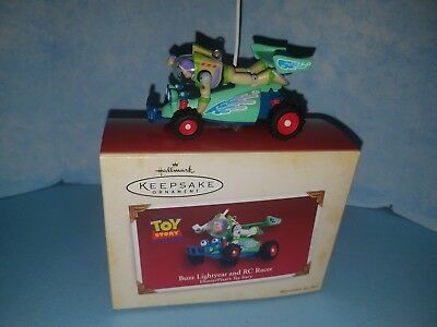 HALLMARK Keepsake 2005 BUZZ LIGHTYEAR AND RC RACER Ornament DISNEY TOY STORY New