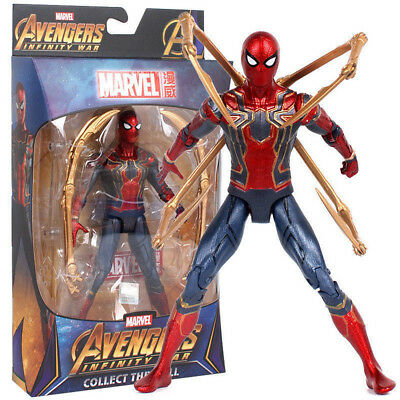 "New! Avengers 3 Infinity War Iron Spider Spider-Man 7"" Action Figure Model Toy"