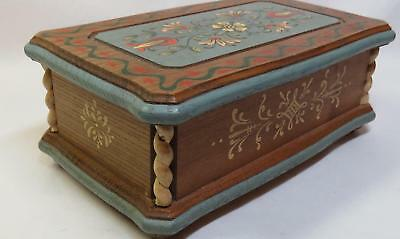 ANRI Carved Wood REUGE Music Box - Plays HAPPY TALK Swiss Musical Movement