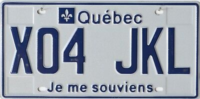 USA Number Licence Plate CANADA QUEBEC Je me souviens