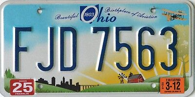 """USA Number Licence Plate OHIO NEW STYLE """"BEAUTIFUL 1803 BIRTHPLACE OF AVIATION"""""""
