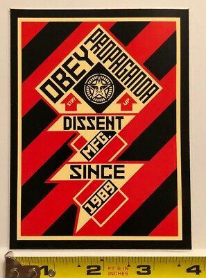 Obey Giant Shepard Fairey Large Dissent since 1989 Sticker Decal Graffiti Art