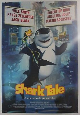 "Shark Tale 2004 Double Sided Original Movie Poster 27"" x 40"""