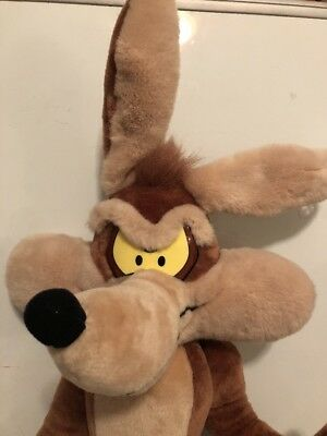 Wile E Coyote Plush Vintage Huge 35 Inches