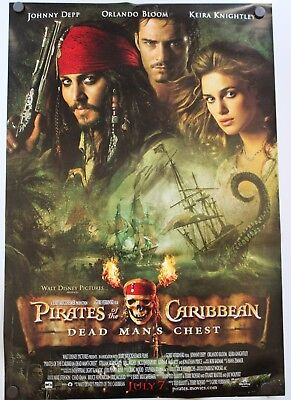 2 PIRATES OF the Caribbean Dead Man's Chest Original Movie Posters 18 5