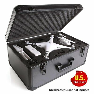 FOR DJI Phantom 3 4 Pro Carrying Case Professional Aluminum RC Drone Hard Box MA