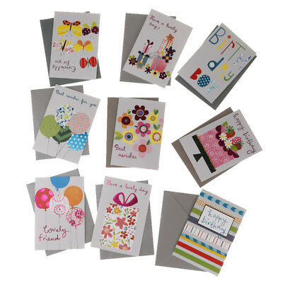 9x Birthday Card Happy Cards Box Set Kids Party Supplies