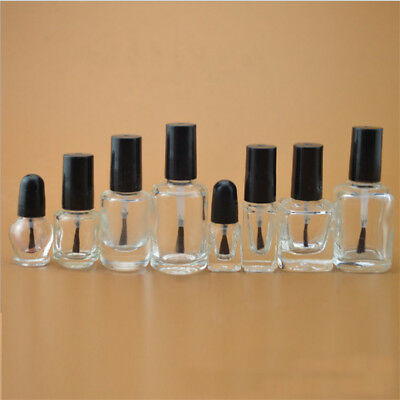 5ml-20ml Empty Glass Nail Polish Bottle With Brush Nail Oil Glass Bottles 10pc F