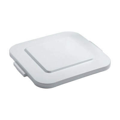 RUBBERMAID Trash Can Top,Flat,Snap-On Closure,White, FG353900WHT