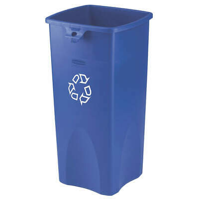 RUBBERMAID Plastic Recycling Container,Blue,23 gal., FG356973BLUE, Blue