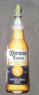 New Large Corona Extra Metal Tin Beer Sign Bottle Shape with Lime