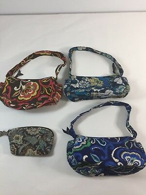 Bundle Lot 4 Vera Bradley Hand Bags Small Purse Wallet Wristlet Multicolor Used