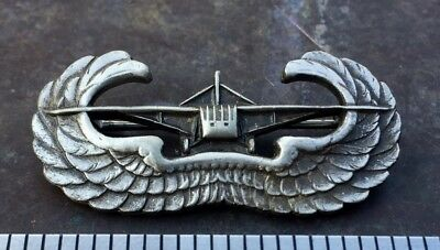 Original WW2 US Army US Navy Aviator Glider Wings Sterling Silver Pin Back