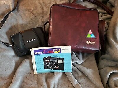 Konica C35 EF Black 35mm Point & Shoot Film Camera Excellent From Japan