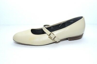 Womens Leather Tic Tac Toes 8.5 Square Round Rock a Billy Dance Shoes Ivory
