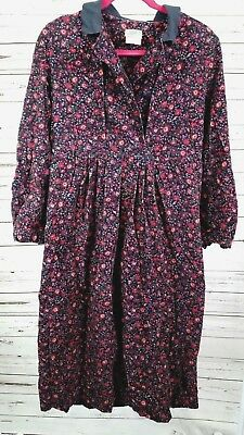 77942f1fed1 RARE VINTAGE LAURA ASHLEY CORDUROY FLORAL COLLAR BUTTON DRESS SIZE 10 80s  90s