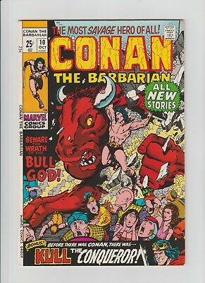 Conan The Barbarian #10 (Oct 1971, Marvel) NM- (9.2) Kull story by Severin !!!!!