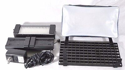 Litepanels Lp50 Led Light Airbox Softbox Grid Battery Adapter For Video Camera