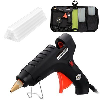 YTE 60W Hot Glue Gun with 20 Melt Glue Sticks carry bag Metal Wood Glass Paper