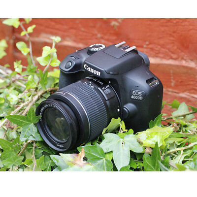 Canon EOS 4000D with 18-55 F3.5-5.6 IS II Black (Multi) ship from EU Nuevo