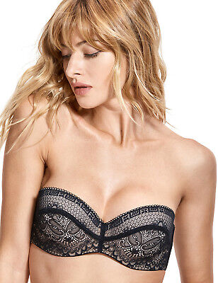 b67fc78794 Women s Lace Slightly Padded Underwire Convertible Multiway Strapless Bra