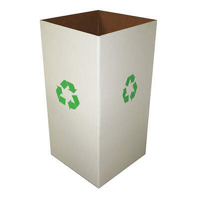 """GRAINGER APPROVED Corrugated Recycle Collection Box,15""""H,PK10, 4UAA5, Clay White"""