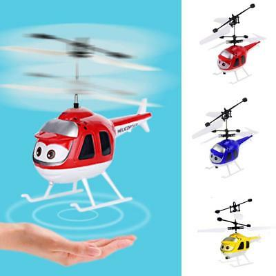 Mini Aircraft Infrared Sensor Remote Control RC Helicopter LED Kids Toy