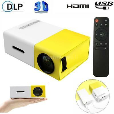 Portable Mini LED Projector 1080P 3D Home Theater USB AV SD HD-MI for Phone PC