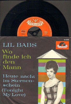 """Lil Babs-7""""-45-Ps- Wo Finde Ich Den Mann- Polydor-Germany- 1961- Mint"""
